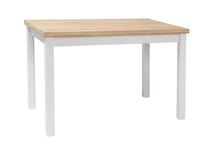 Обеденный стол SIGNAL Adam 120 дуб/белый матовый, 120/68/75