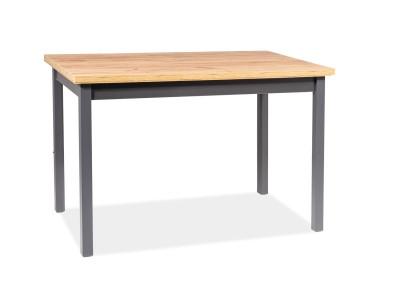 Обеденный стол SIGNAL Adam 120 дуб ланселот/антрацит, 120/68/75
