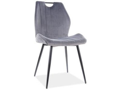 Стул SIGNAL Arco Velvet серый/черный матовый