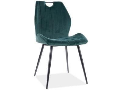 Стул SIGNAL Arco Velvet зеленый/черный матовый