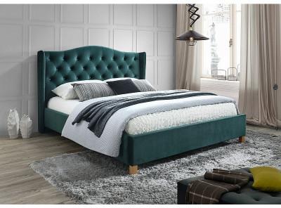 Кровать SIGNAL Aspen Velvet (140*200) зеленый/дуб