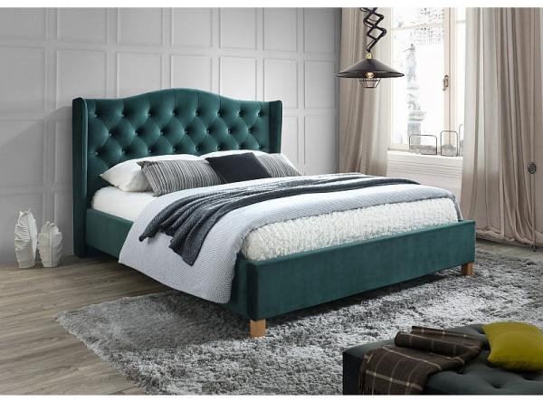 Кровать SIGNAL Aspen Velvet (160*200) зеленый