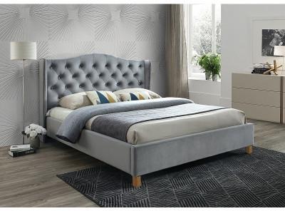 Кровать SIGNAL Aspen Velvet (180*200) серый/дуб