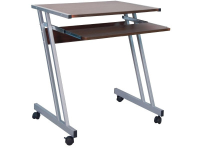 Стол письменный SIGNAL B-233 темно-коричневый/алюминий, 60/48/73