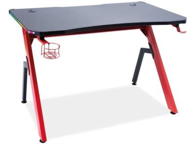 Стол письменный SIGNAL B-006 черный+красный/черный, 120/66/75