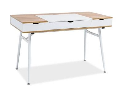 Стол письменный SIGNAL B-151 дуб+белый /белый, 120/60/76