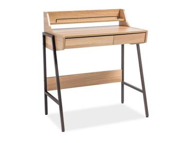 Стол письменный SIGNAL B-168 дуб/темно-коричневый, 77/48/89