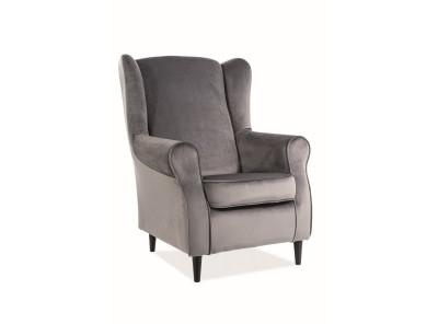 Кресло SIGNAL Baron Velvet серый