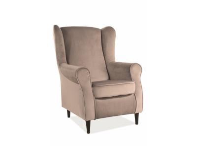 Кресло SIGNAL Baron Velvet бежевый