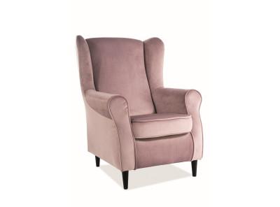 Кресло SIGNAL Baron Velvet античный розовый