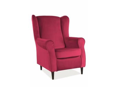 Кресло SIGNAL Baron Velvet бордовый