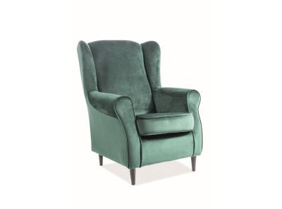 Кресло SIGNAL Baron Velvet зеленый