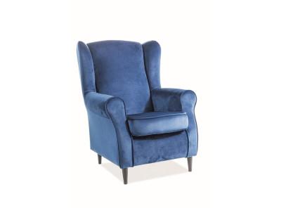 Кресло SIGNAL Baron Velvet темно-синий