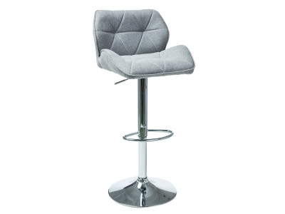 Барный стул SIGNAL C-122 серый/хром