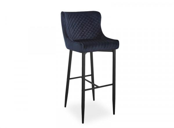 Барный стул SIGNAL Colin B H-1 Velvet черный/черный матовый