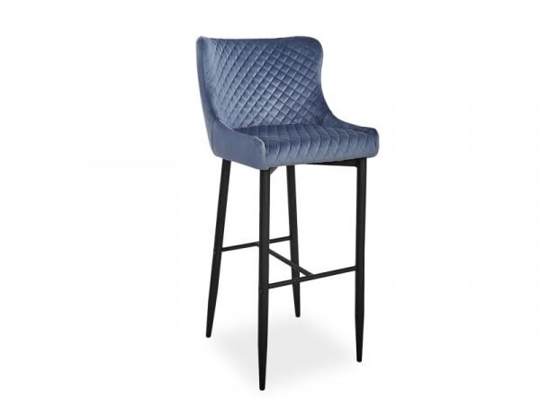 Барный стул SIGNAL Colin B H-1 Velvet серый/черный матовый