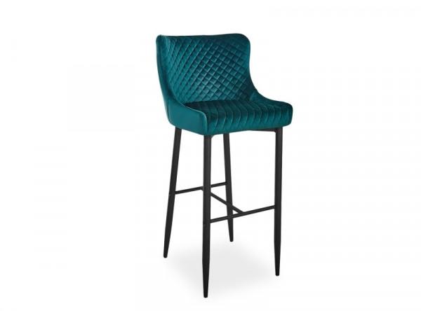 Барный стул SIGNAL Colin B H-1 Velvet зеленый/черный матовый