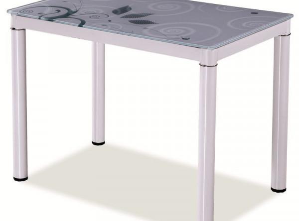 Обеденный стол SIGNAL Damar белый, 100/60/75