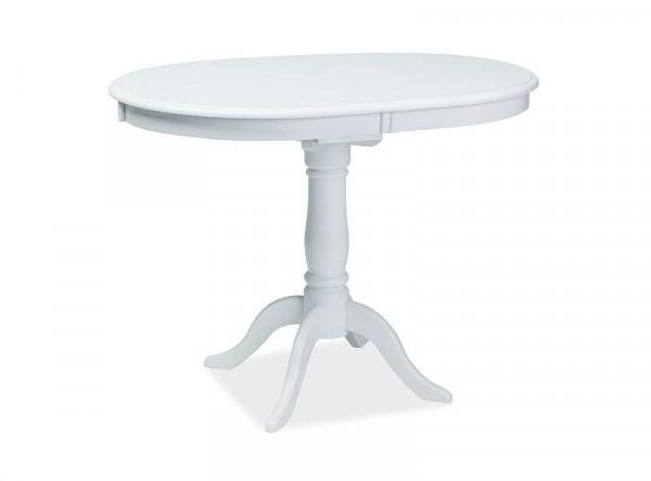 Обеденный стол SIGNAL Dello 100 раскладной, белый, 100-129/70/75