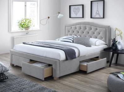 Кровать SIGNAL Electra (140*200) серый/дуб