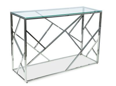 Консоль SIGNAL Escada C прозрачный/серебрянный, 120/40/78