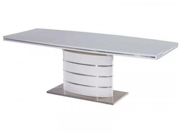 Обеденный стол SIGNAL Fano 180 раскладной, белый лак, 180-240/100/77