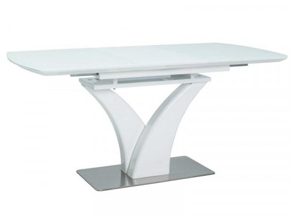Обеденный стол SIGNAL Faro 120 раскладной, белый, 120-160/80/76