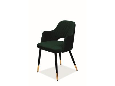 Стул SIGNAL Franco Velvet зеленый/черный+золотой