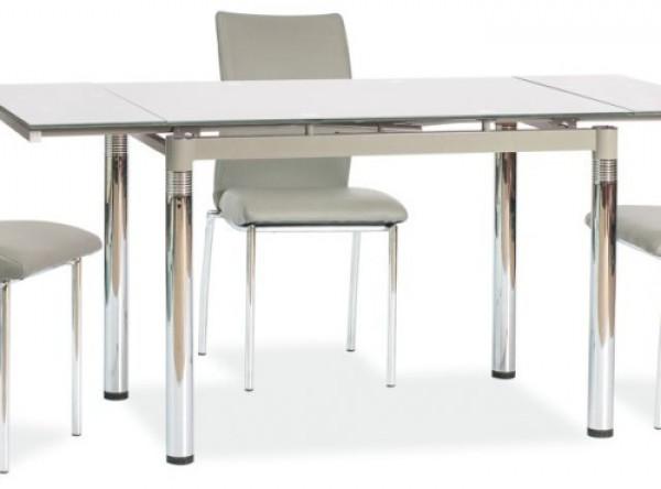 Обеденный стол SIGNAL GD-018 раскладной, серый/хром, 110-170/74/75