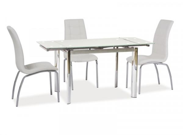 Обеденный стол SIGNAL GD-019 раскладной, белый/хром, 100-150/70/76