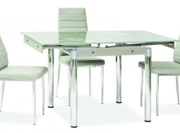 Обеденный стол SIGNAL GD-082 раскладной, белый/хром, 80-131/80/75