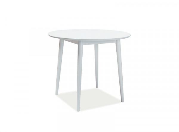 Обеденный стол SIGNAL Larson белый/белый, d90/75