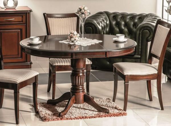 Обеденный стол SIGNAL Margo темный орех, d90-125/75