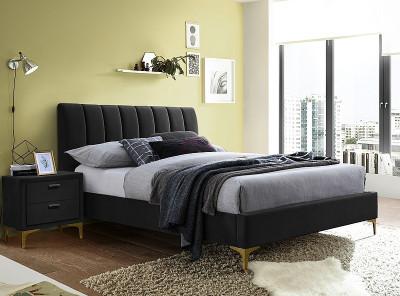 Кровать SIGNAL Mirage Velvet (160*200) черный