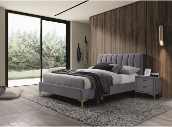 Кровать SIGNAL Mirage Velvet (160*200) серый
