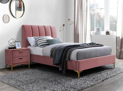 Кровать SIGNAL Mirage Velvet (90*200) античный розовый