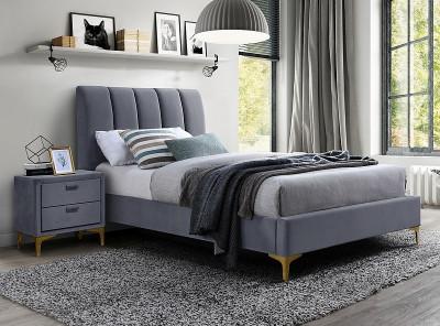 Кровать SIGNAL Mirage Velvet (90*200) серый
