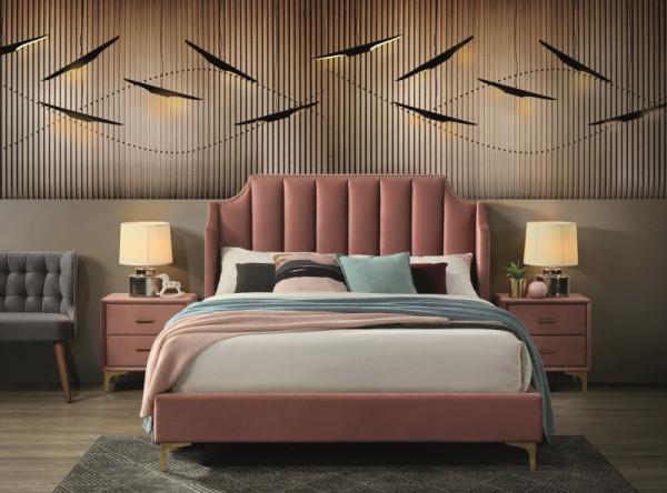 Кровать SIGNAL Monako Velvet (160*200) античный розовый