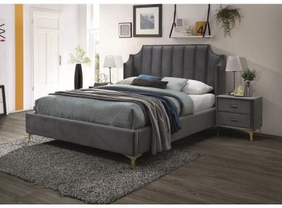 Кровать SIGNAL Monako Velvet (160*200) серый