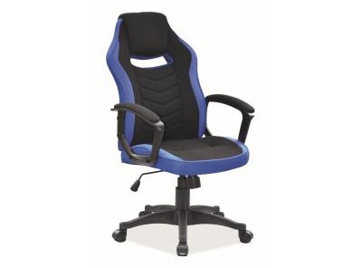 Кресло компьютерное SIGNAL Camaro черный+синий/черный