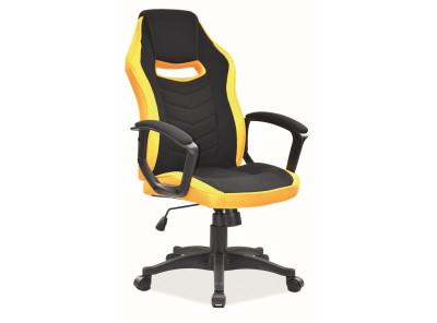 Кресло компьютерное SIGNAL Camaro черный+желтый/черный
