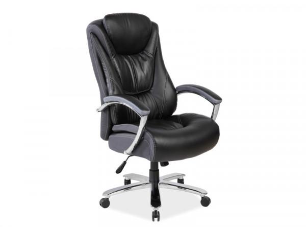 Кресло компьютерное SIGNAL Consul черный/хром
