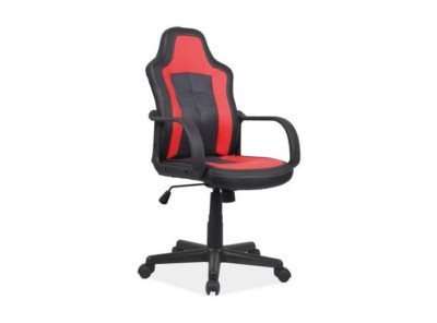 Кресло компьютерное SIGNAL Cruz черный+красный/черный