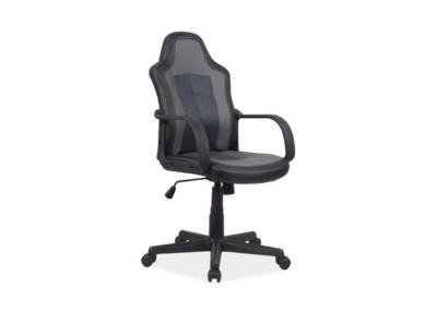 Кресло компьютерное SIGNAL Cruz черный+серый /черный