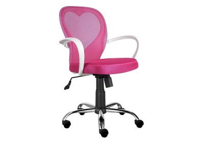 Кресло компьютерное SIGNAL Daisy розовый/хром