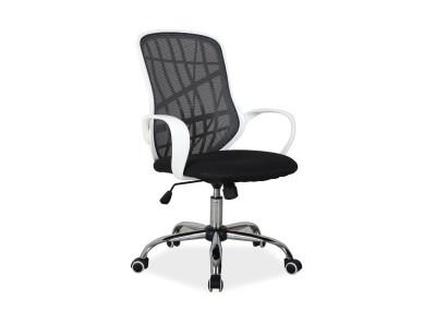 Кресло компьютерное SIGNAL Dexter черный+белый/хром