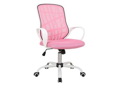 Кресло компьютерное SIGNAL Dexter розовый+белый/хром
