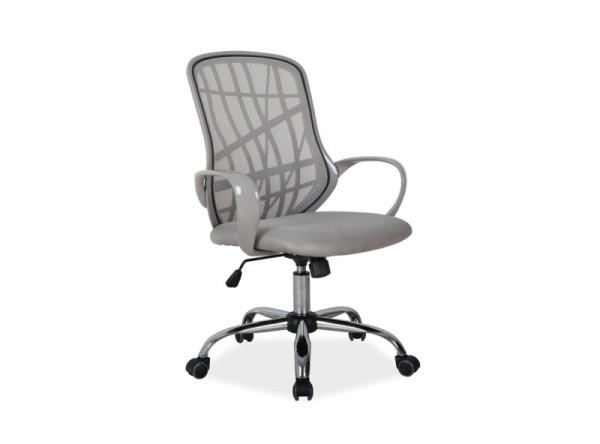 Кресло компьютерное SIGNAL Dexter серый/хром