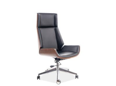 Кресло компьютерное SIGNAL Maryland черный+орех/хром