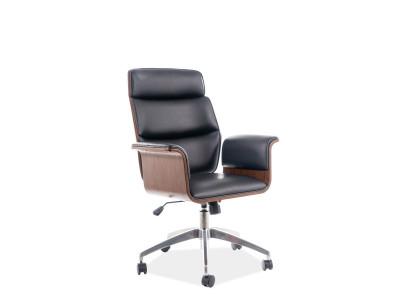 Кресло компьютерное SIGNAL Oregon черный+орех/хром